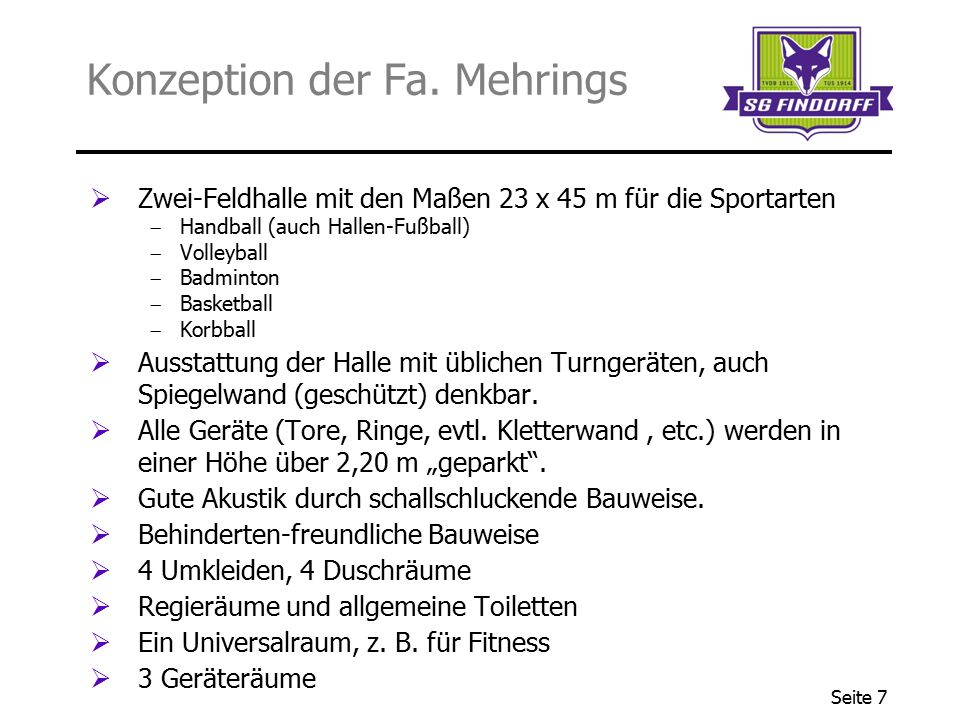 Konzeption der Fa. Mehrings