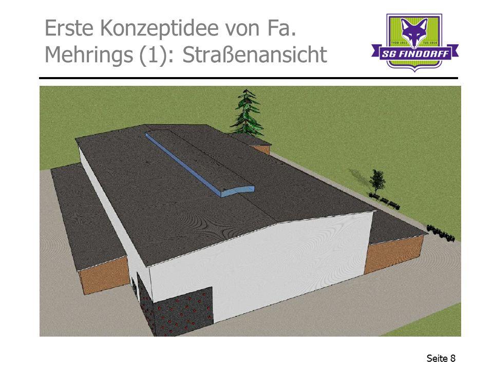 Erste Konzeptidee von Fa. Mehrings (1): Straßenansicht