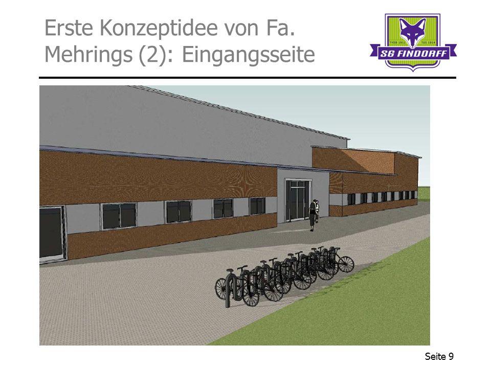 Erste Konzeptidee von Fa. Mehrings (2): Eingangsseite
