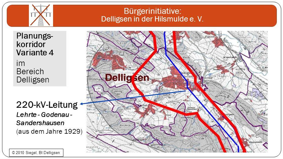 220-kV-Leitung Planungs- korridor Variante 4 im Bereich Delligsen