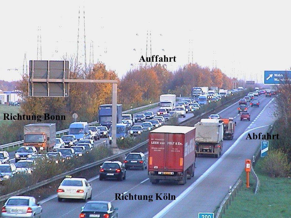 Auffahrt Richtung Bonn Abfahrt Richtung Köln