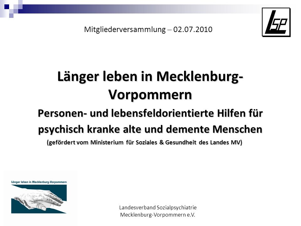 Länger leben in Mecklenburg-Vorpommern