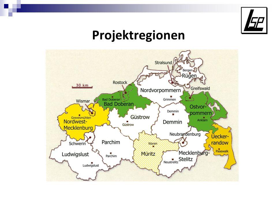 Projektregionen