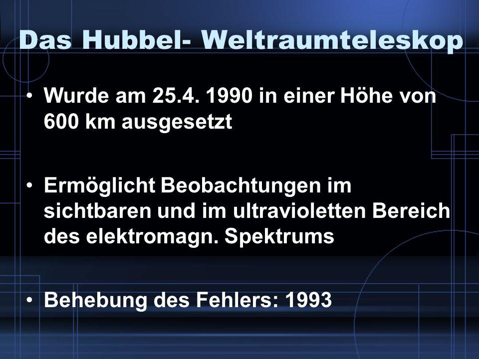 Das Hubbel- Weltraumteleskop