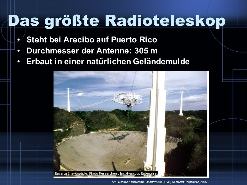 Das größte Radioteleskop