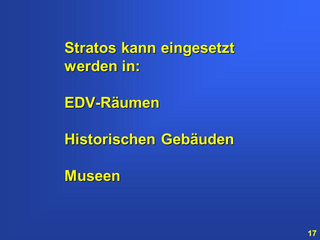 Stratos kann eingesetzt werden in: EDV-Räumen Historischen Gebäuden