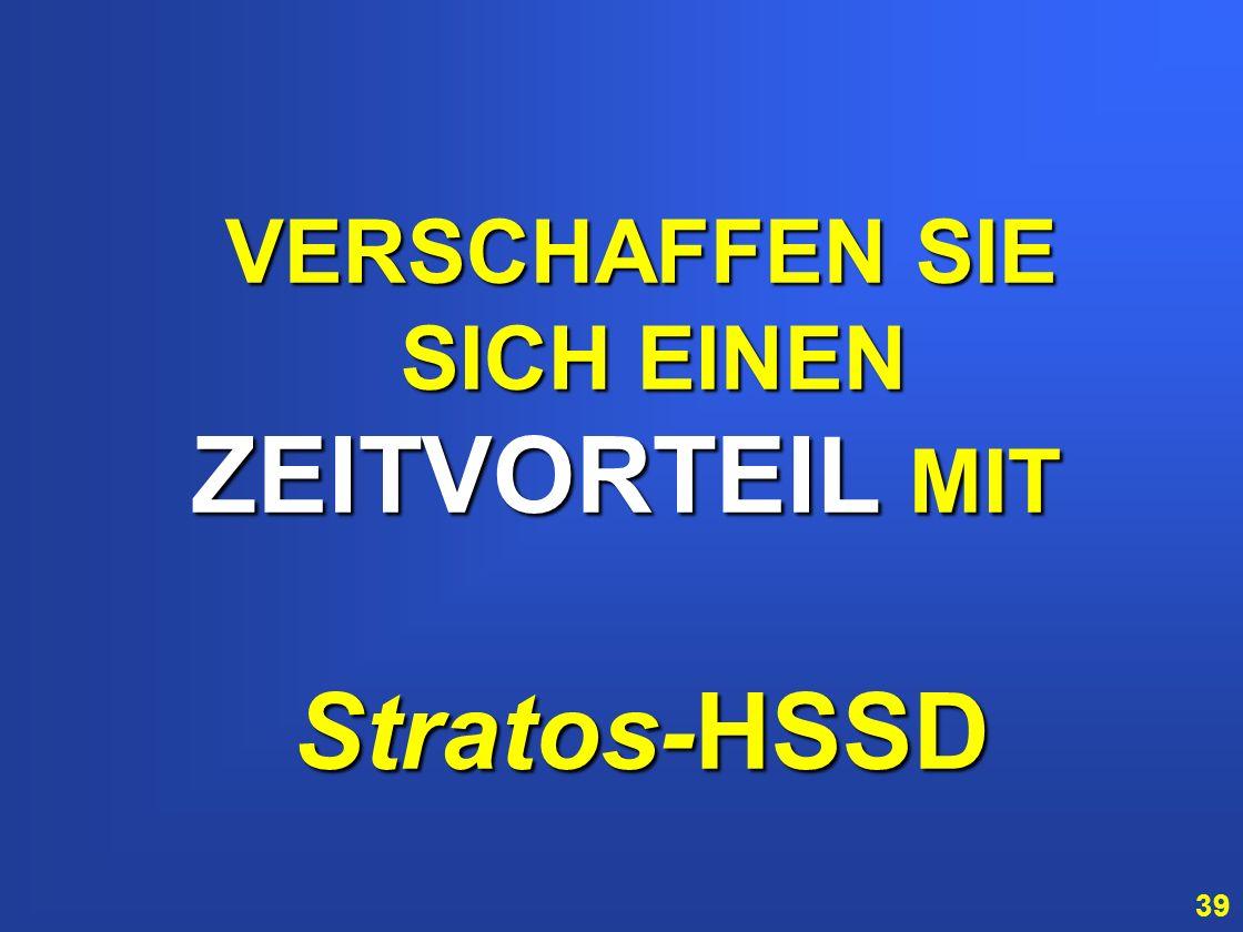 ZEITVORTEIL MIT Stratos-HSSD