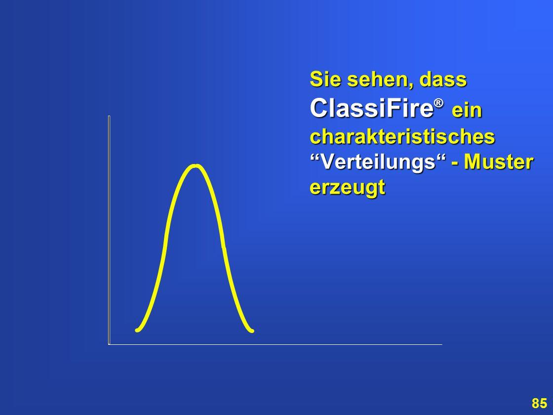 Sie sehen, dass ClassiFire® ein charakteristisches Verteilungs - Muster erzeugt