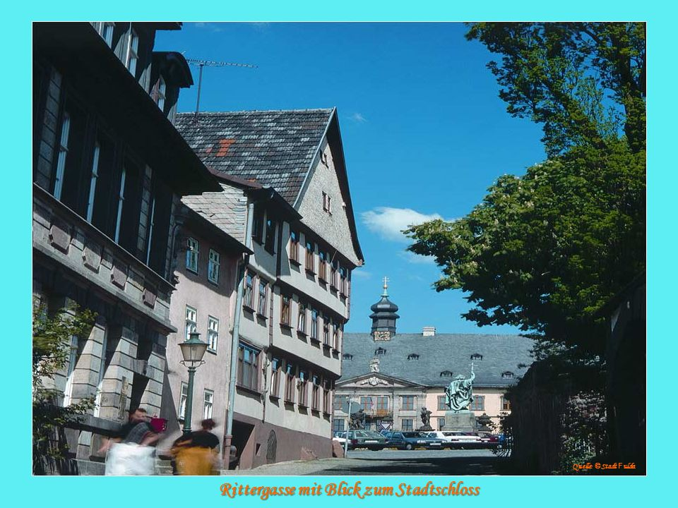 Rittergasse mit Blick zum Stadtschloss