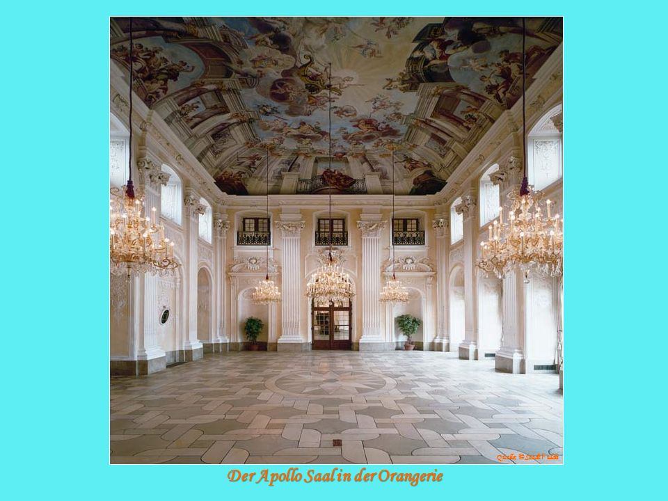 Der Apollo Saal in der Orangerie