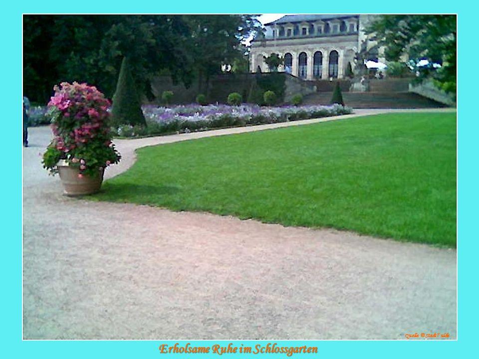 Erholsame Ruhe im Schlossgarten