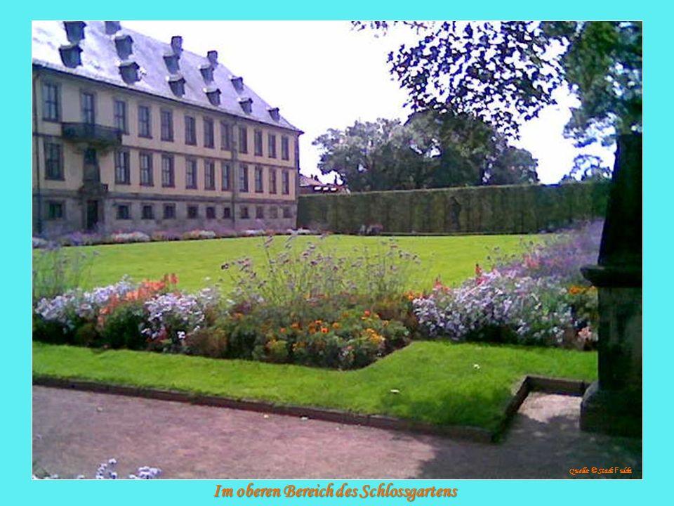 Im oberen Bereich des Schlossgartens
