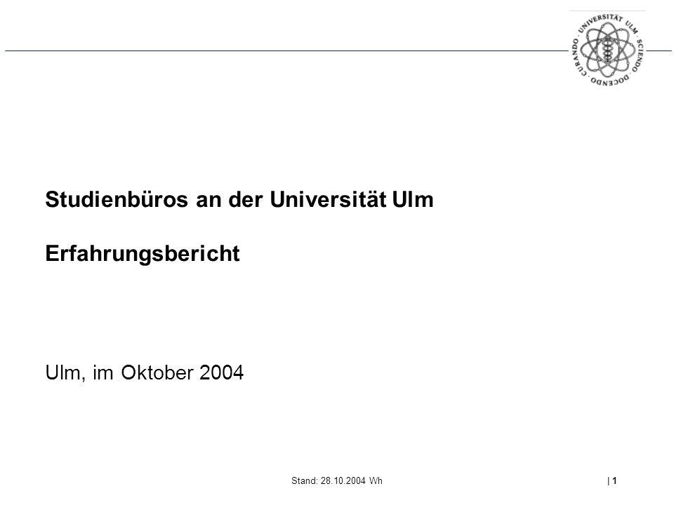 Studienbüros an der Universität Ulm Erfahrungsbericht