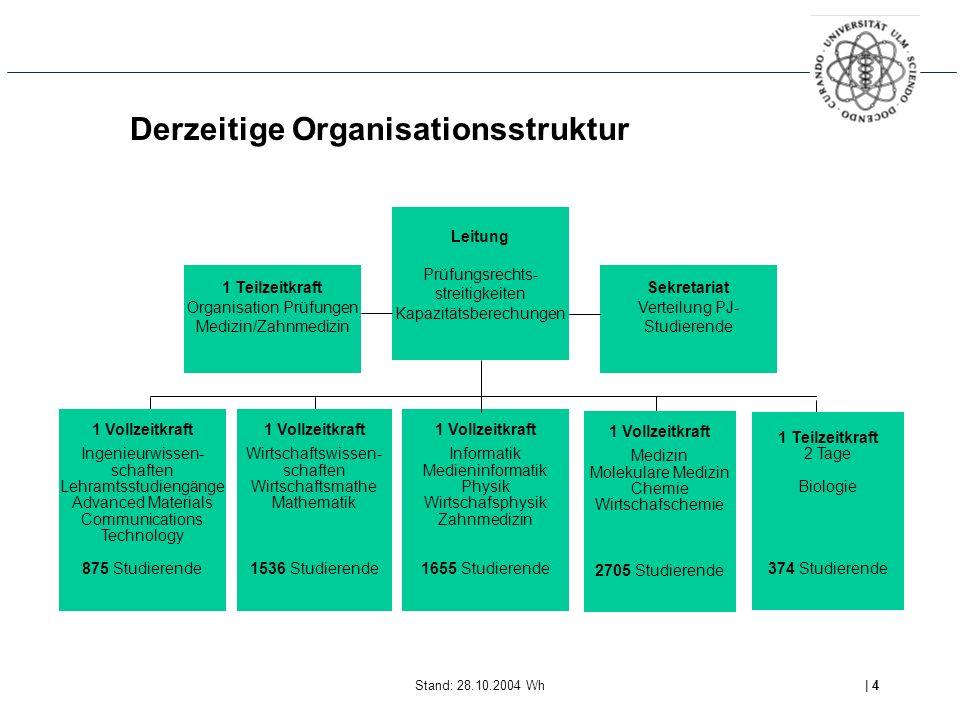 Derzeitige Organisationsstruktur