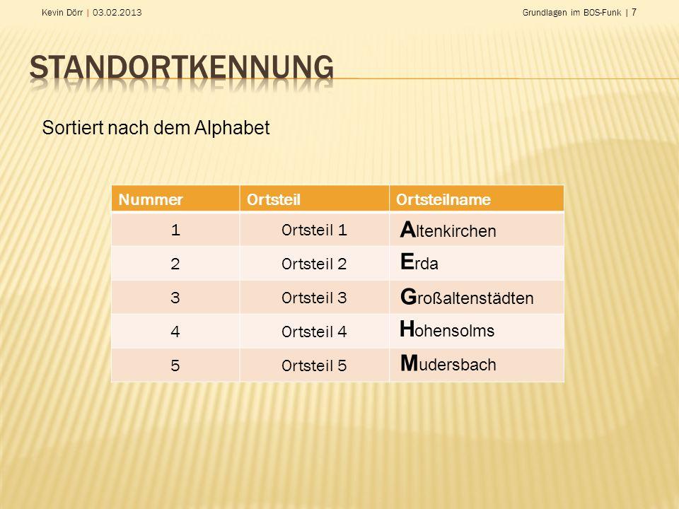 Standortkennung Altenkirchen Erda Großaltenstädten Hohensolms