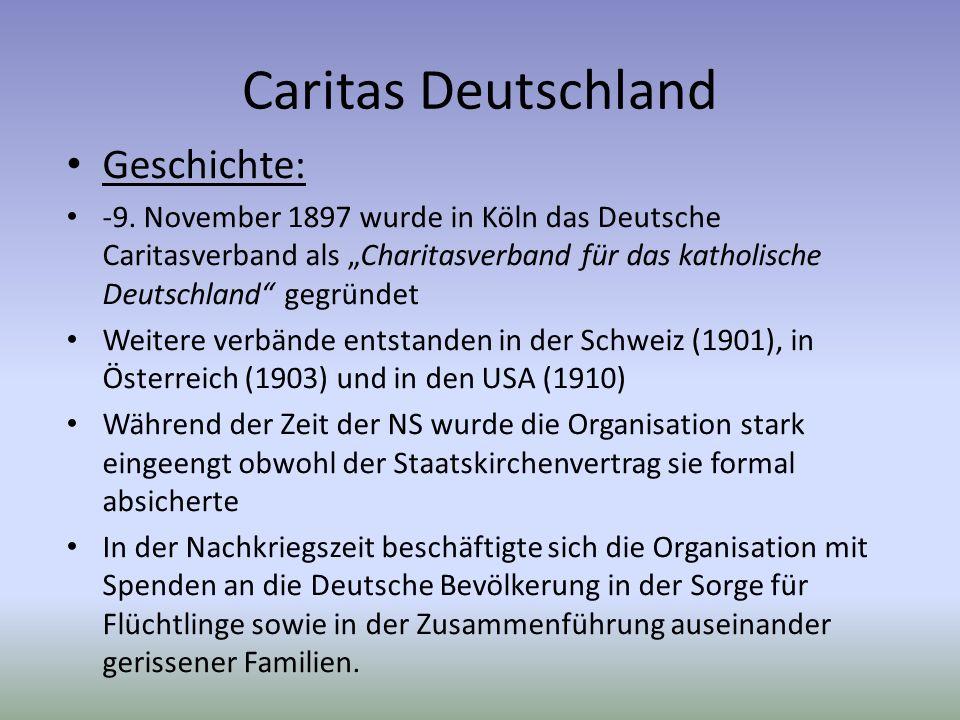 Caritas Deutschland Geschichte: