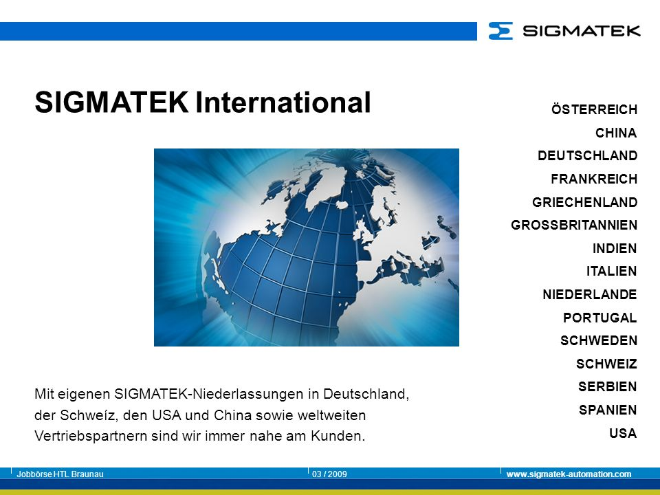 SIGMATEK International