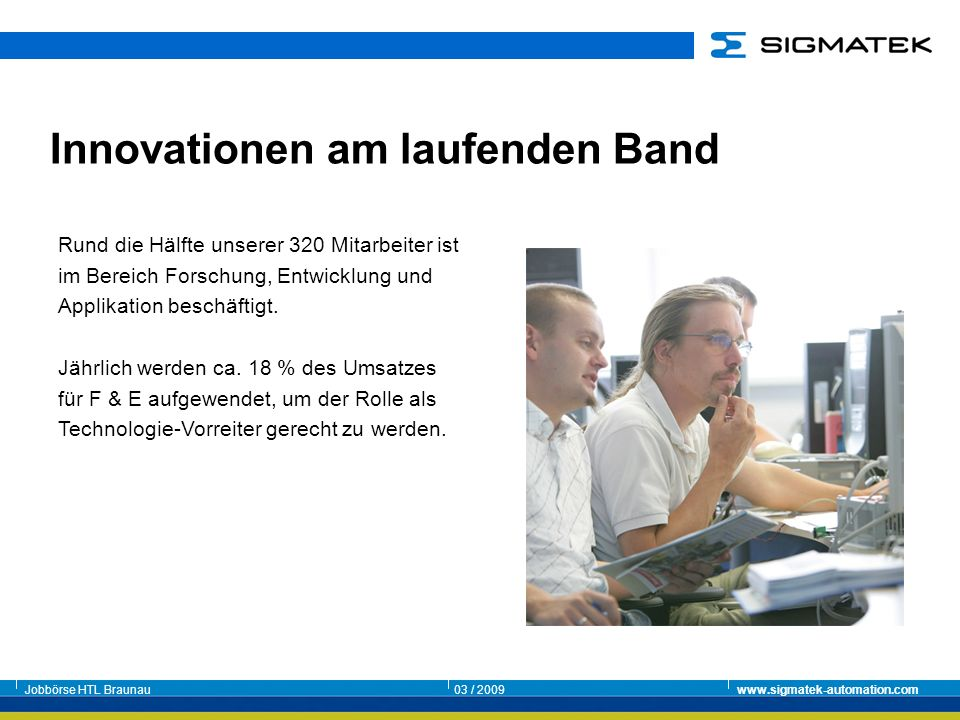 Innovationen am laufenden Band