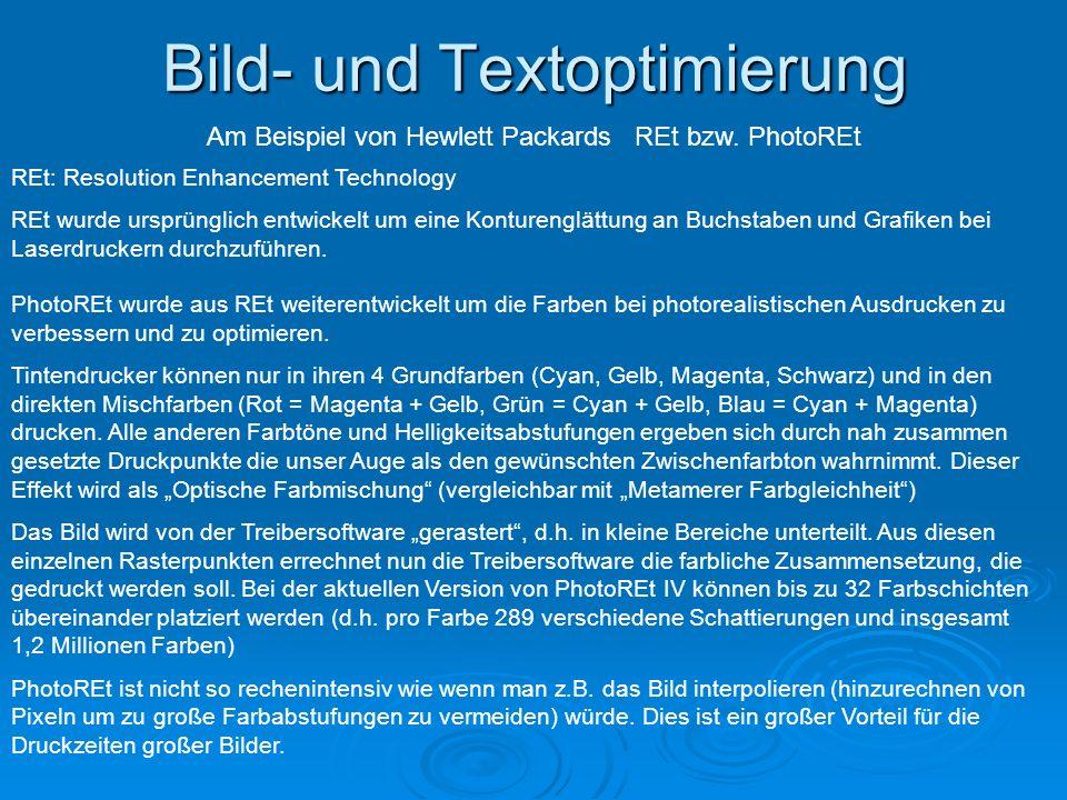 Bild- und Textoptimierung