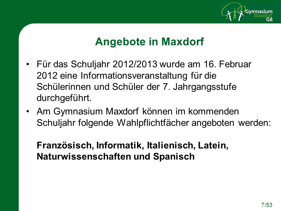Angebote in Maxdorf
