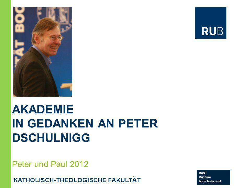 in Gedanken an Peter Dschulnigg