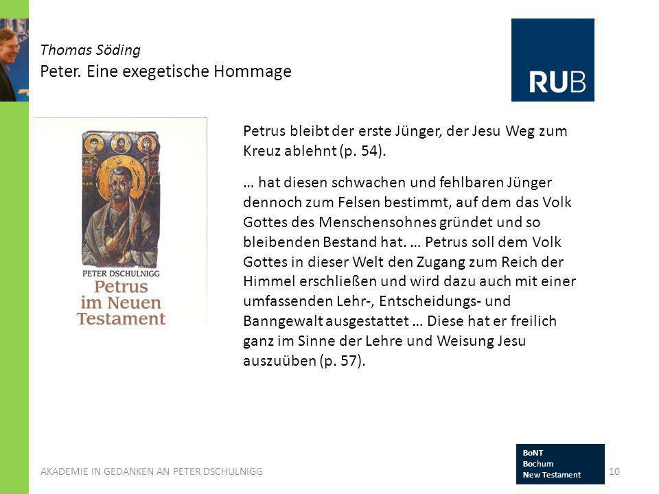 Thomas Söding Peter. Eine exegetische Hommage