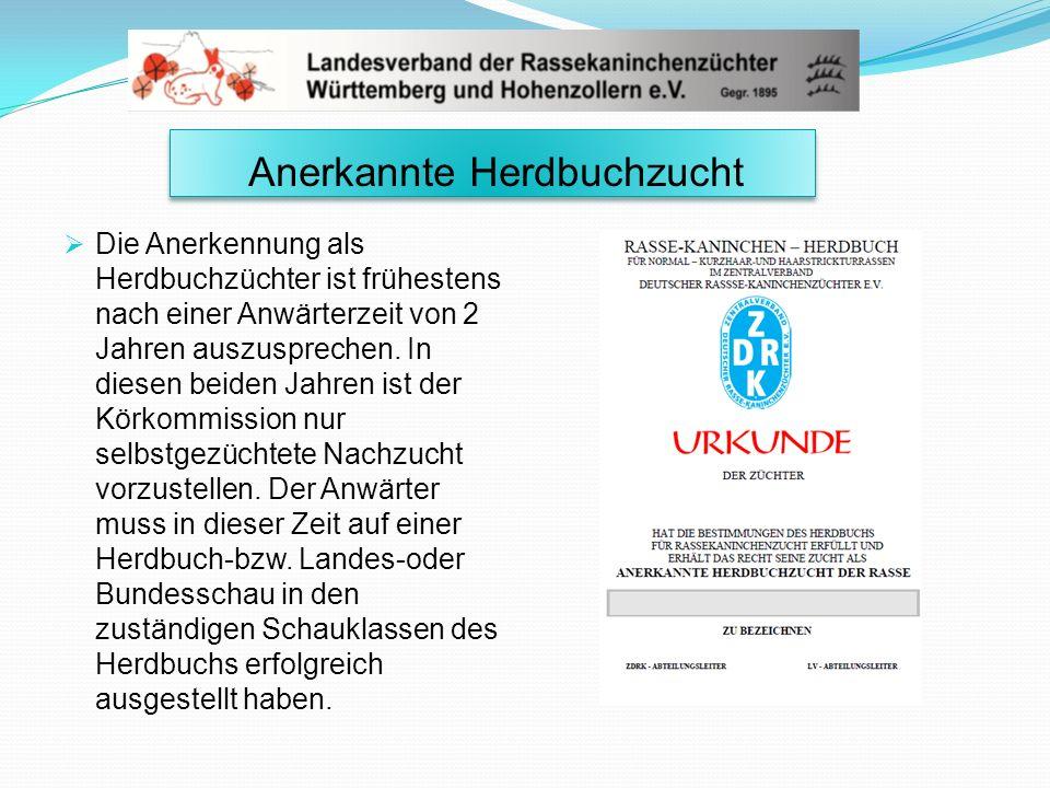 Anerkannte Herdbuchzucht