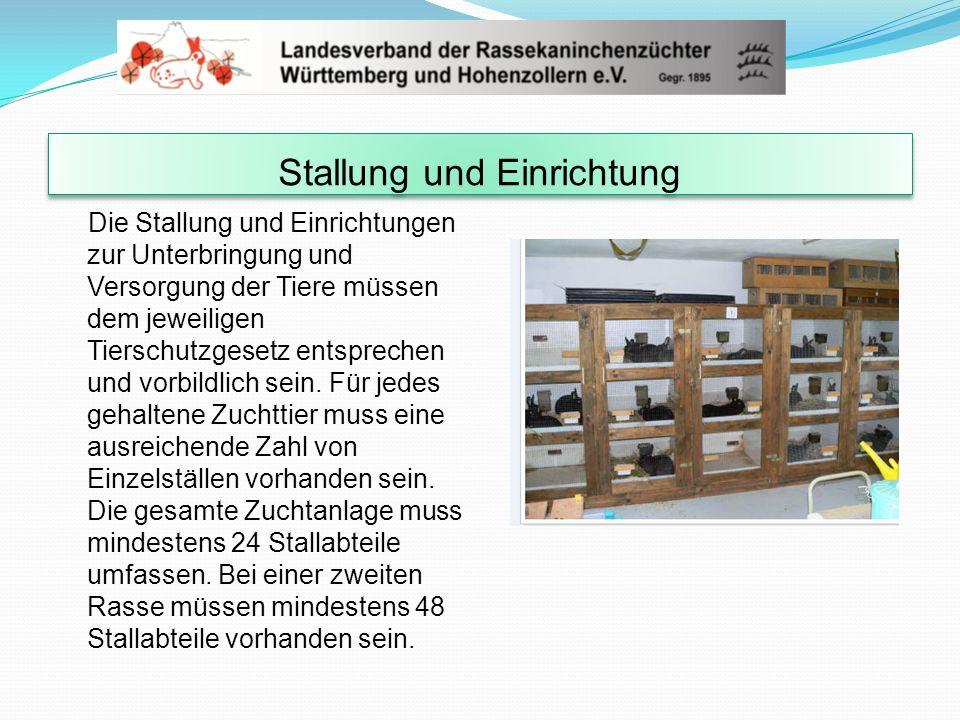 Stallung und Einrichtung