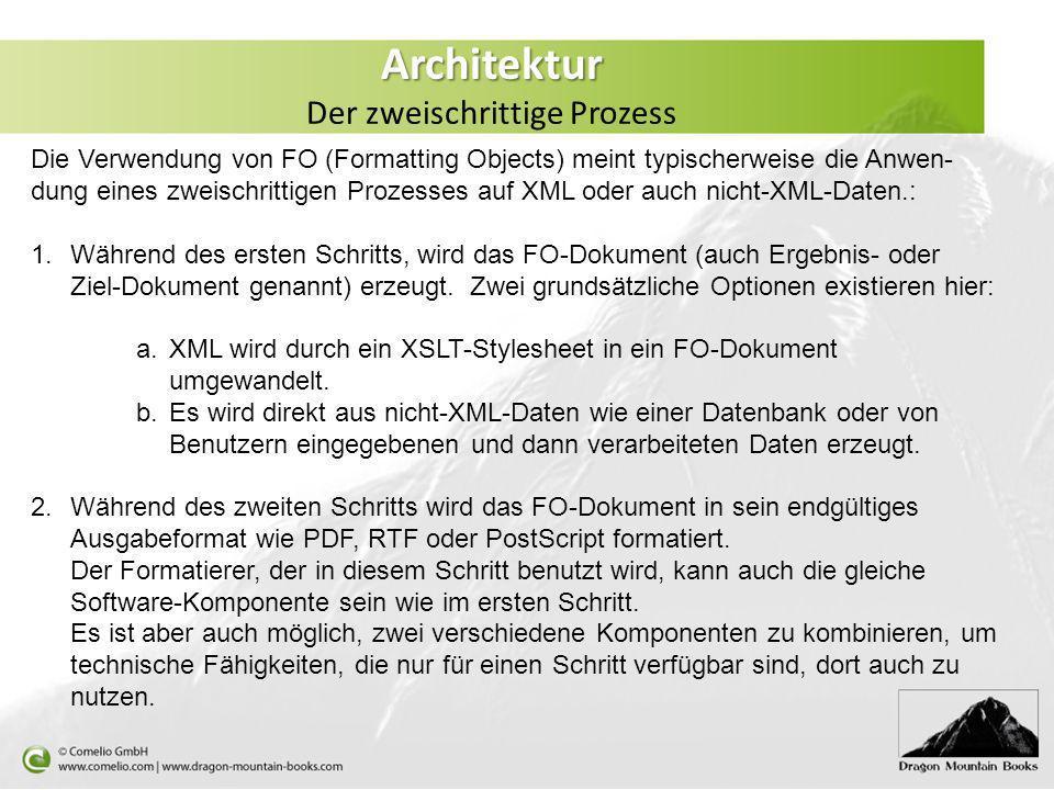 Architektur Der zweischrittige Prozess