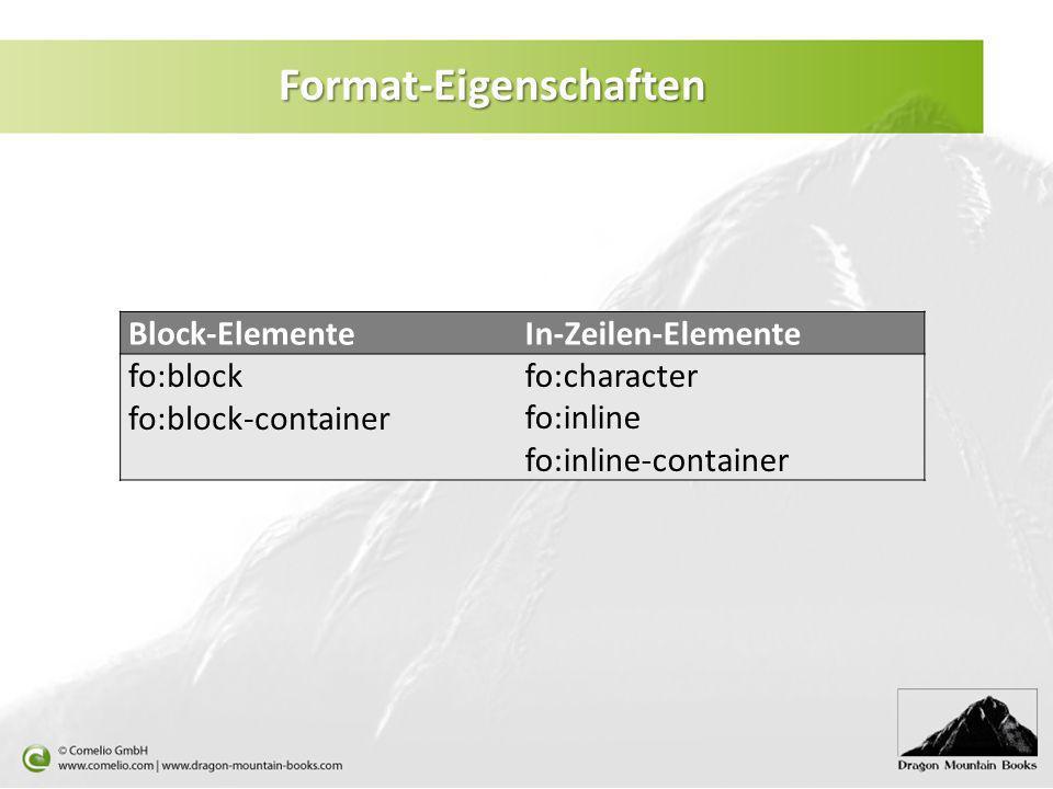 Format-Eigenschaften
