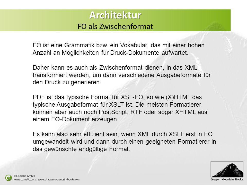Architektur FO als Zwischenformat