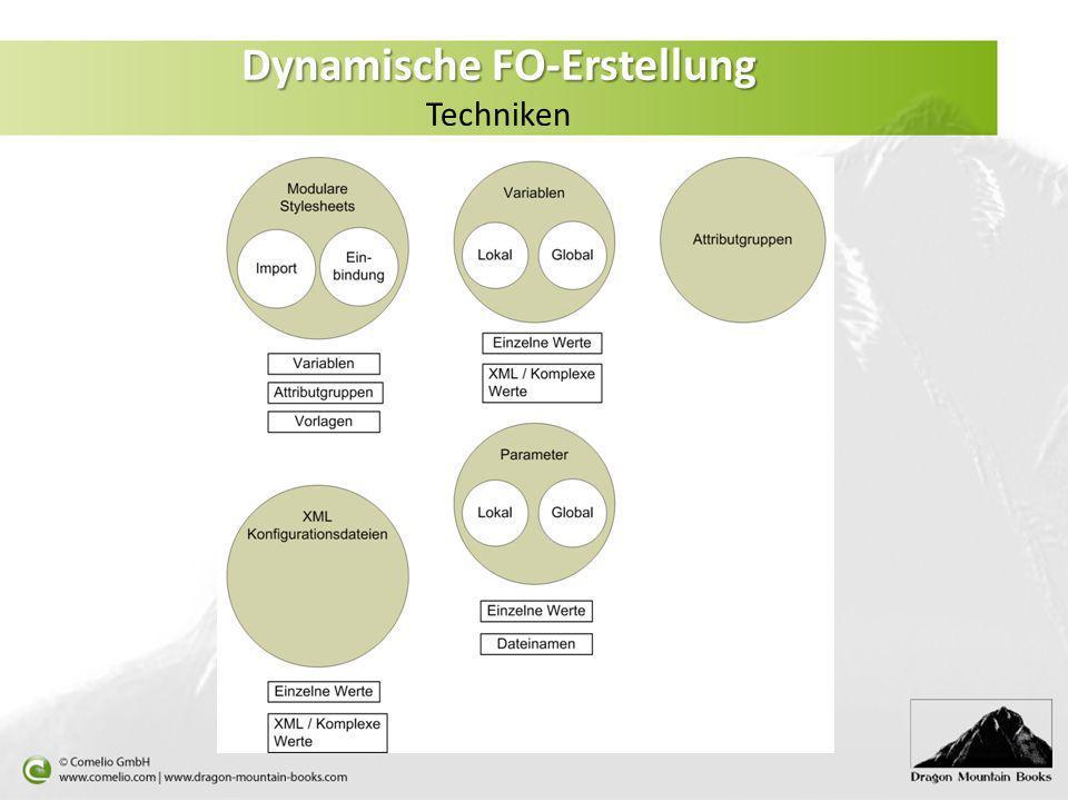 Dynamische FO-Erstellung Techniken