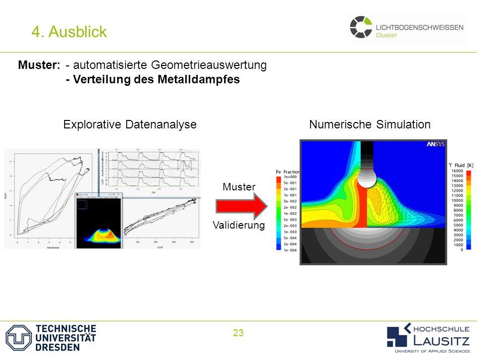 4. Ausblick Muster: - automatisierte Geometrieauswertung