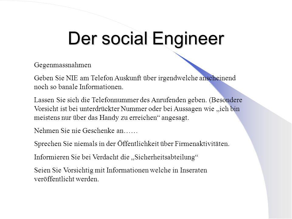 Der social Engineer Gegenmassnahmen