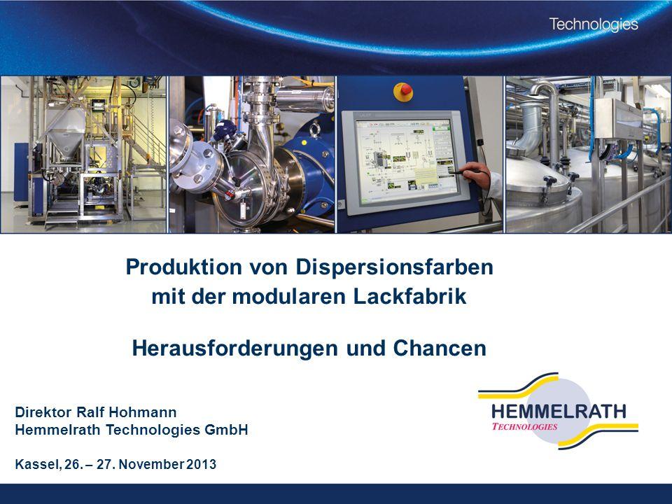 Produktion von Dispersionsfarben mit der modularen Lackfabrik Herausforderungen und Chancen