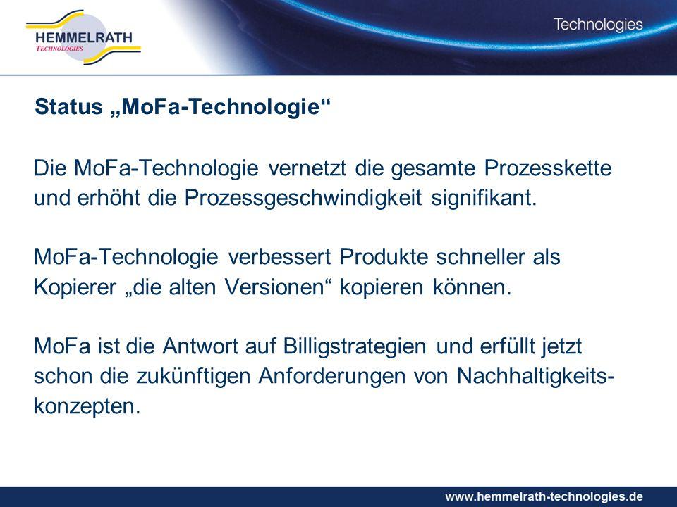 "Status ""MoFa-Technologie"