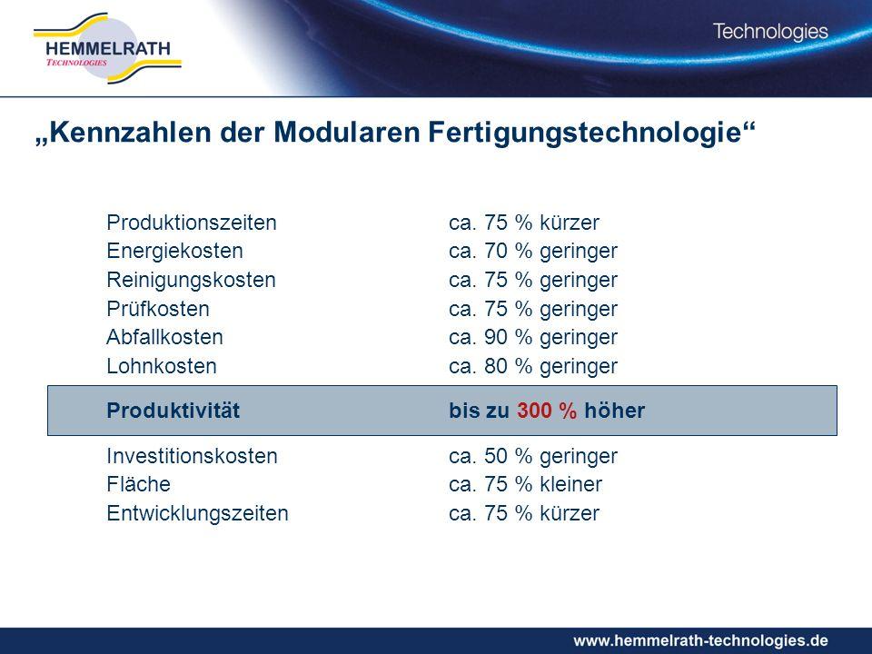 """""""Kennzahlen der Modularen Fertigungstechnologie"""