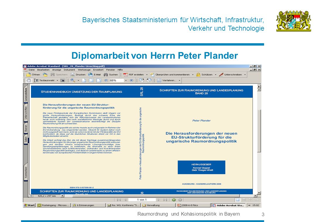 Diplomarbeit von Herrn Peter Plander