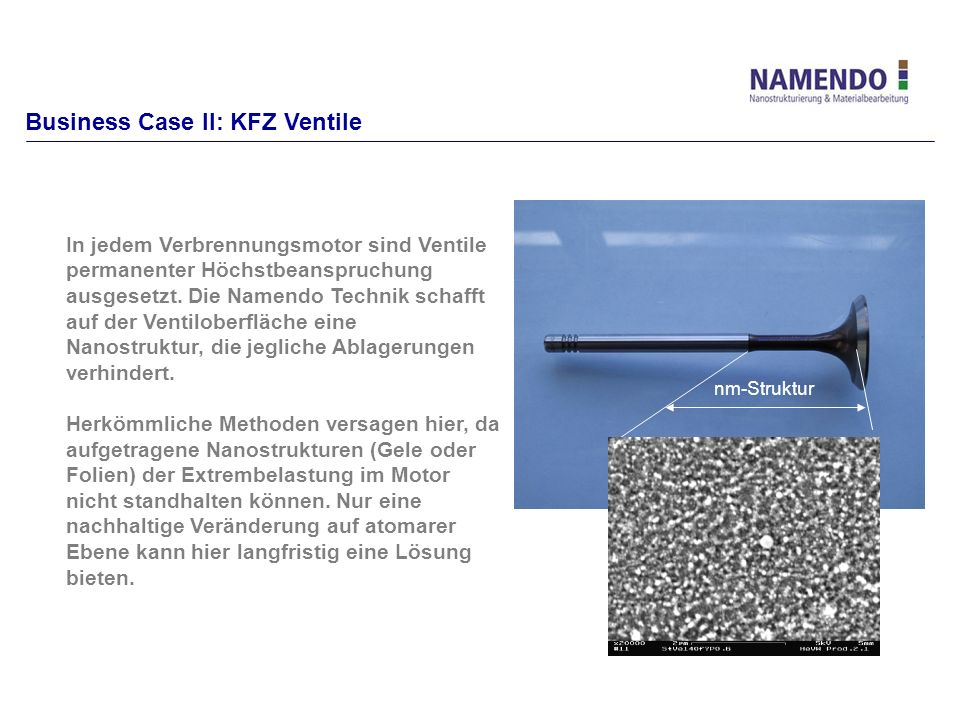 Business Case II: KFZ Ventile