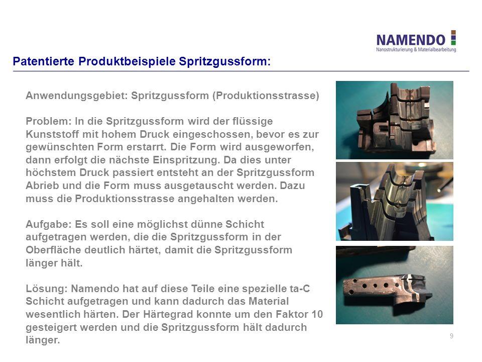 Patentierte Produktbeispiele Spritzgussform: