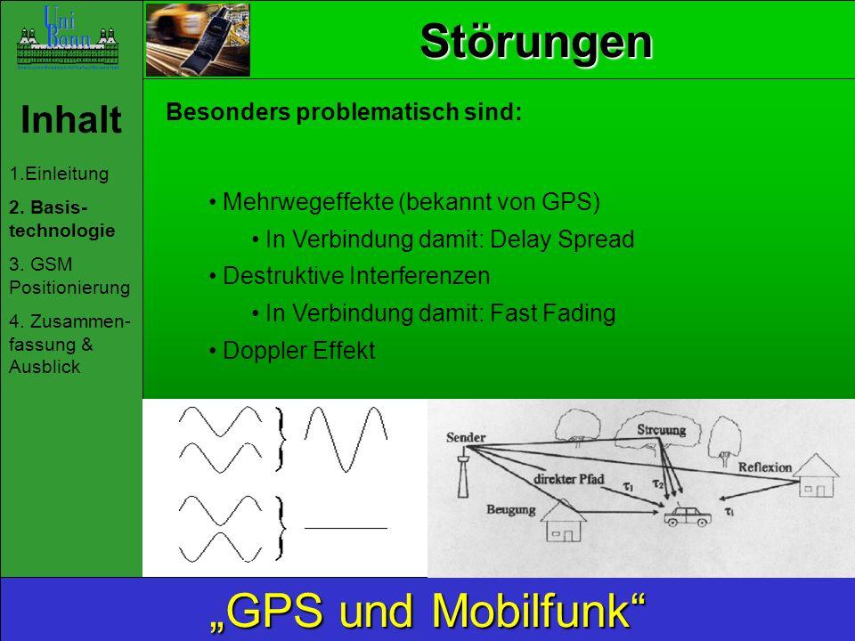 """Störungen """"GPS und Mobilfunk Inhalt Besonders problematisch sind:"""