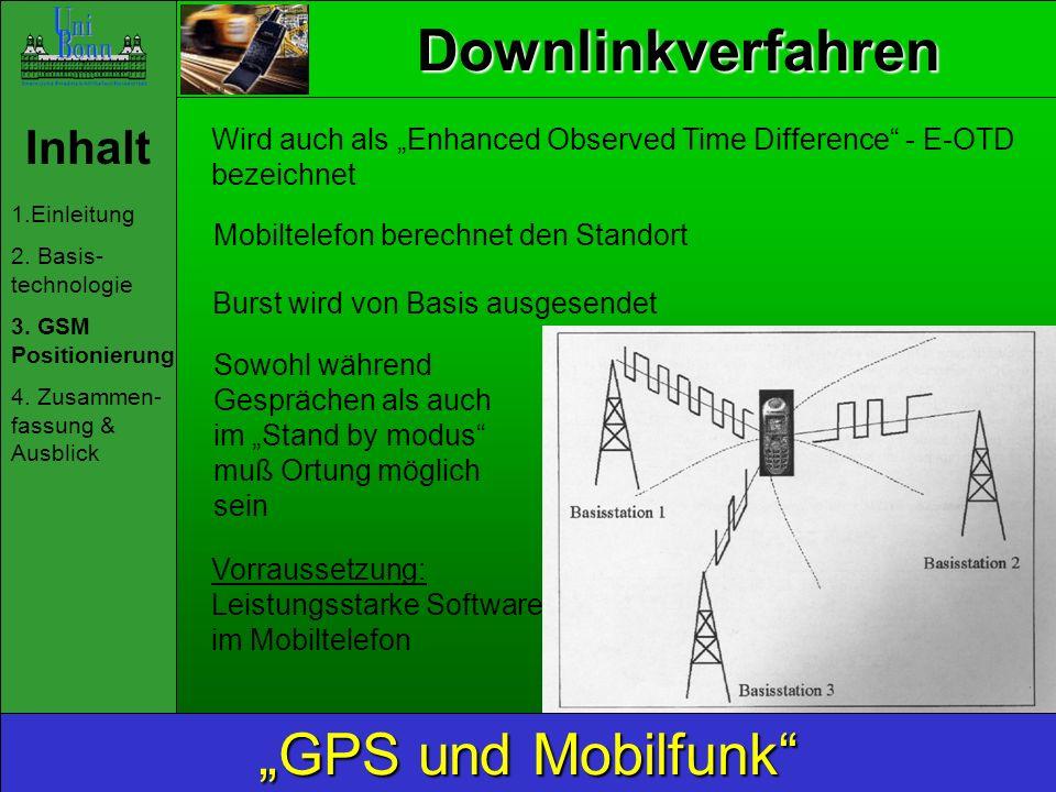 """Downlinkverfahren """"GPS und Mobilfunk Inhalt"""