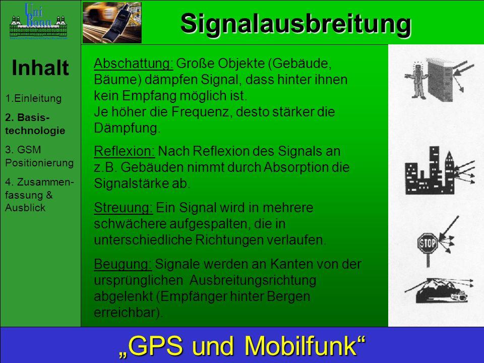 "Signalausbreitung ""GPS und Mobilfunk Inhalt"