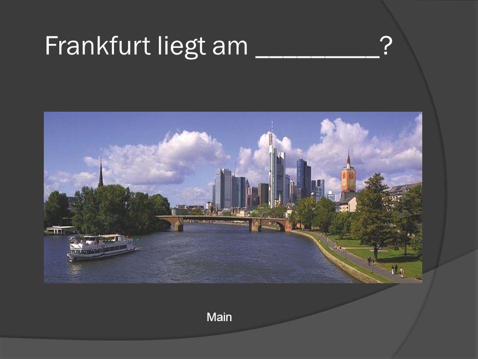 Frankfurt liegt am _________