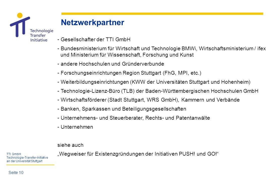 Netzwerkpartner Gesellschafter der TTI GmbH