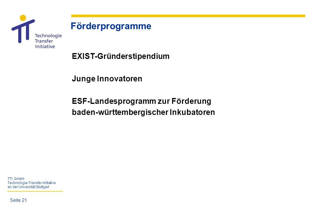 Förderprogramme EXIST-Gründerstipendium Junge Innovatoren