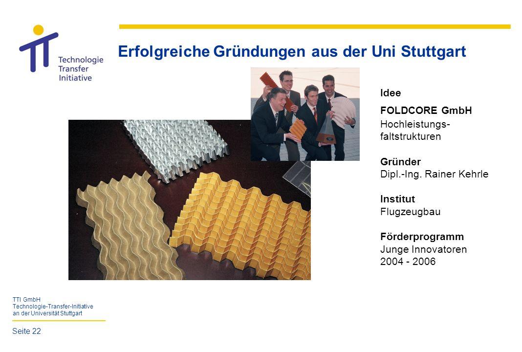 Erfolgreiche Gründungen aus der Uni Stuttgart