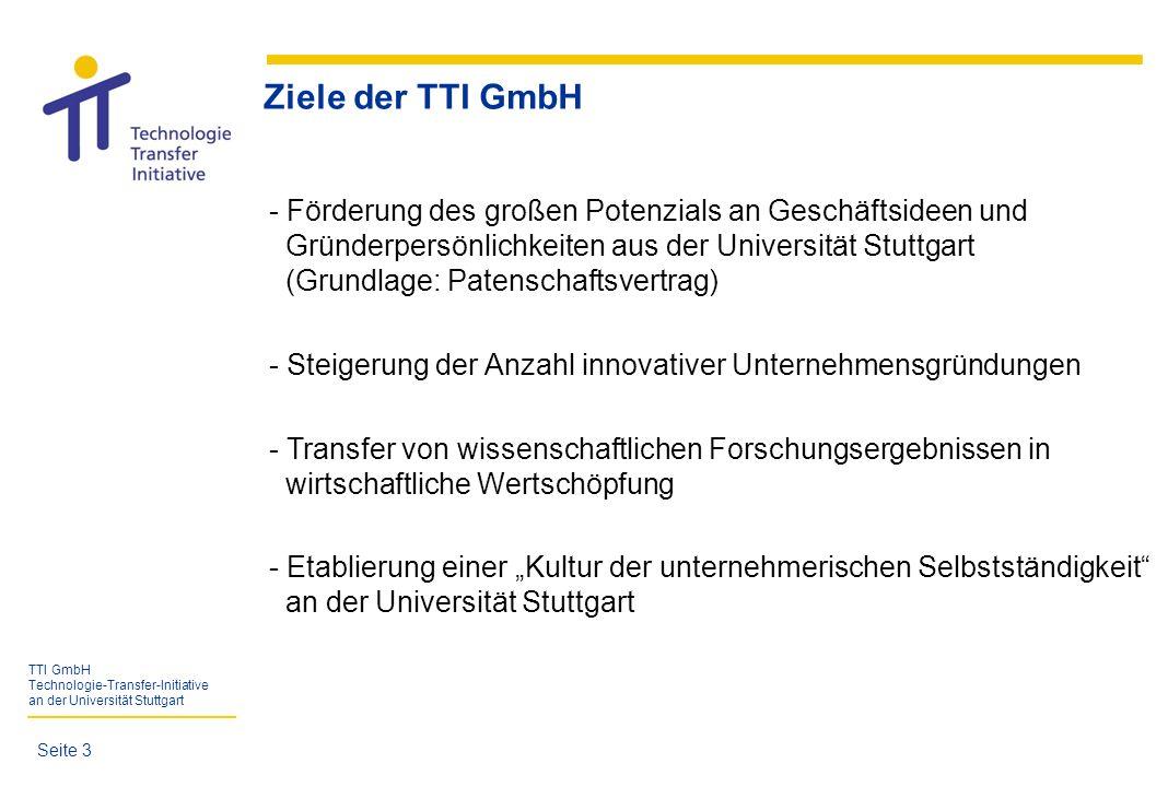 Ziele der TTI GmbH