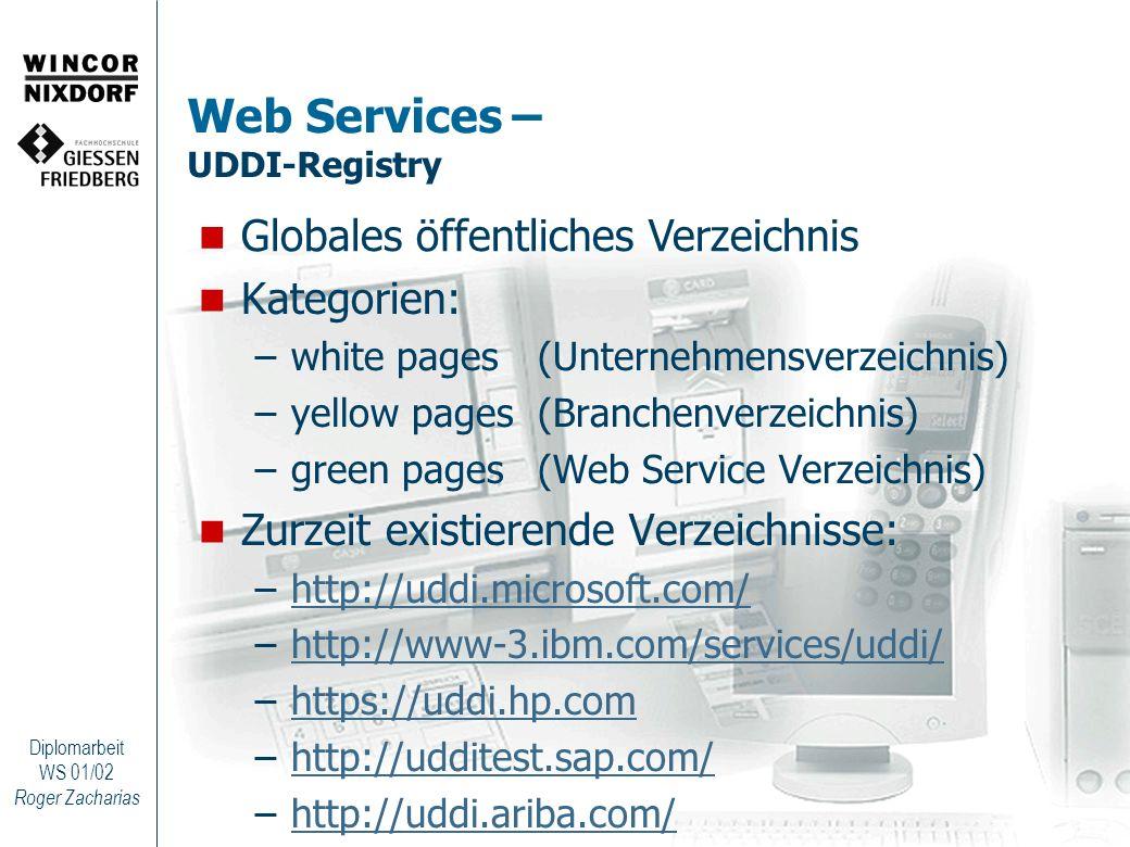 Web Services – UDDI-Registry