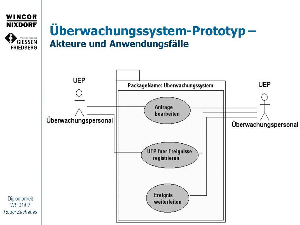 Überwachungssystem-Prototyp – Akteure und Anwendungsfälle